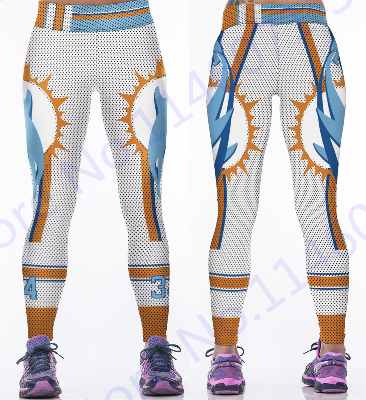 2016 Women American Football Pattern 3d Leggings Stretch: Popular Dolphin Tights-Buy Cheap Dolphin Tights Lots From