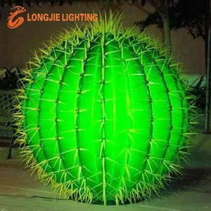 outdoor landscape lighted cactus