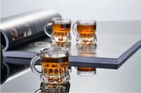 Haonai glassware 1oz shot glass,clear shot glass with handles shot glass cup drinkware