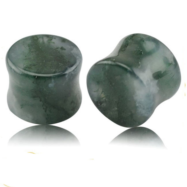 Fake Piercing Stone Plug Ohrstecker Stein Ear AMETHYST GOLD GEMSTONE FAKEPLUG