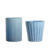 Wholesale Custom Home Decoration Frosted Blue Glass Votive Candle Holder