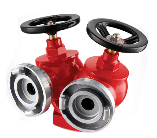 OEM super qualiy Twin valve indoor fire hydrant for fire hose