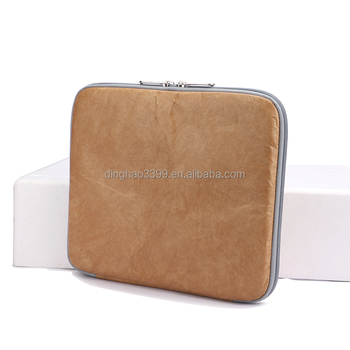 Factory Custom Made Tablet Computer Bag Lightweight Waterproof Travel Laptop Sleeve Tyvek Paper