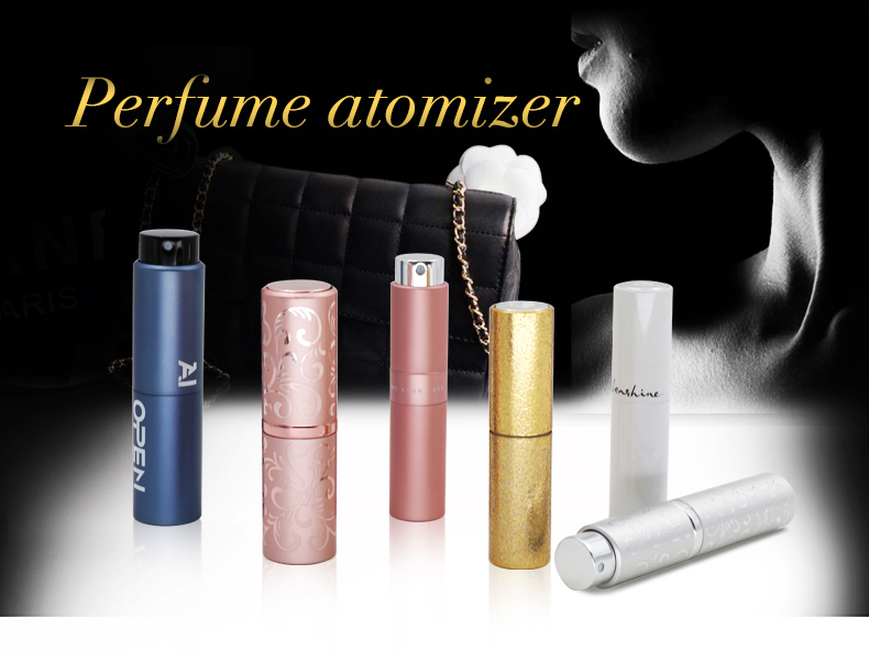 empty luxury rotary aluminum perfume atomizer spray bottle 8ml 10ml 15ml 20ml with custom logo