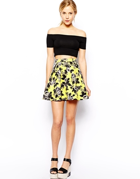 Beautiful Young Girls Short Skirt In Quilted Floral Print - Buy ...