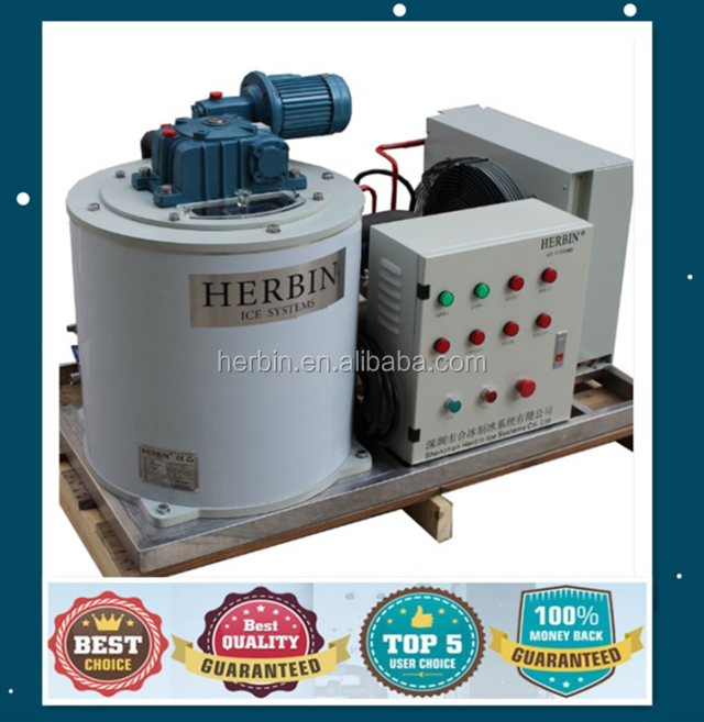 HERBIN CE approved concrete cooling machine concrete flake ice making machine