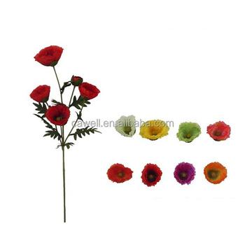 Wholesale white red silk plastic artificial poppy flower buy poppy wholesale white red silk plastic artificial poppy flower mightylinksfo