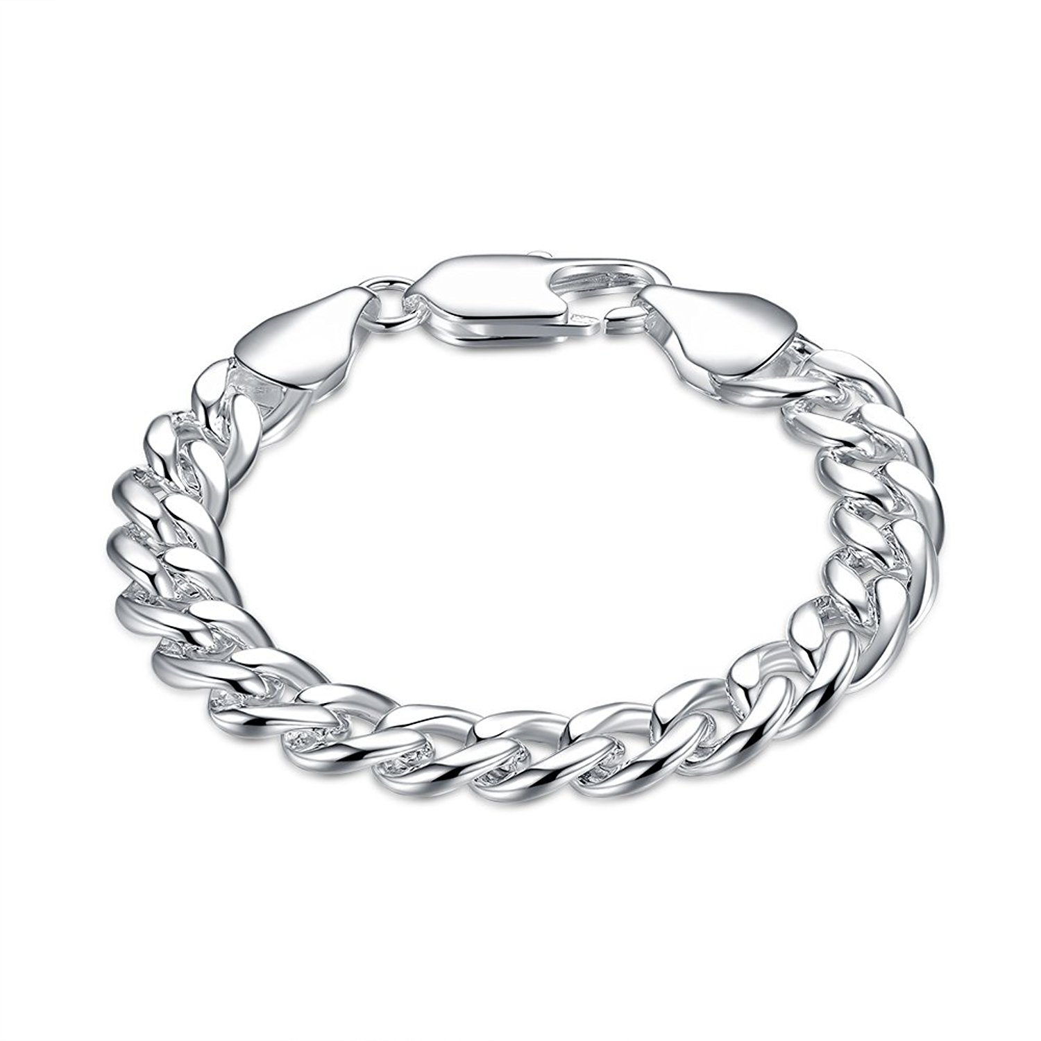 Fashion Unisex Charms Jewelry Plate With Silver Romantic Snake Chain Bracelets
