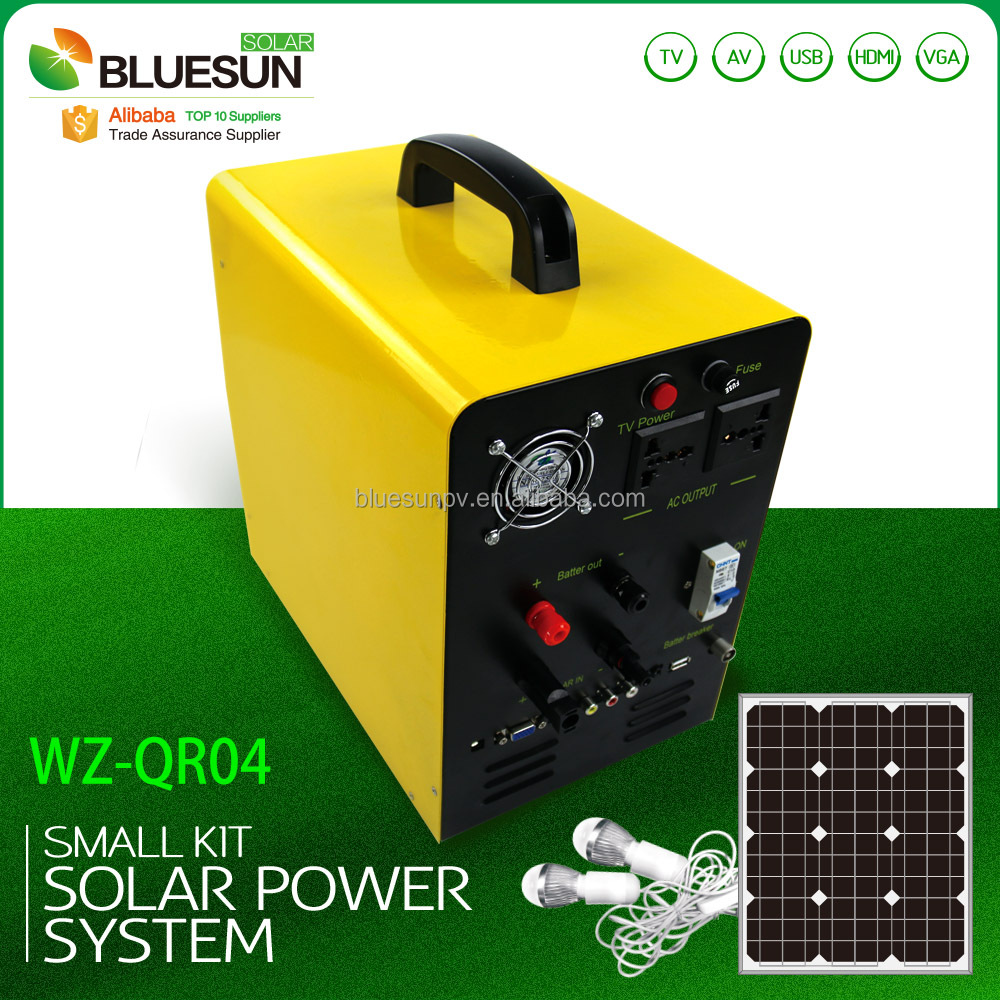 Bluesun 12VDC 200 watt portable solar panel DC 12V using voltage 5V 12V 220V MP3/SD/USB/TV/AV/VGA/HDMI function