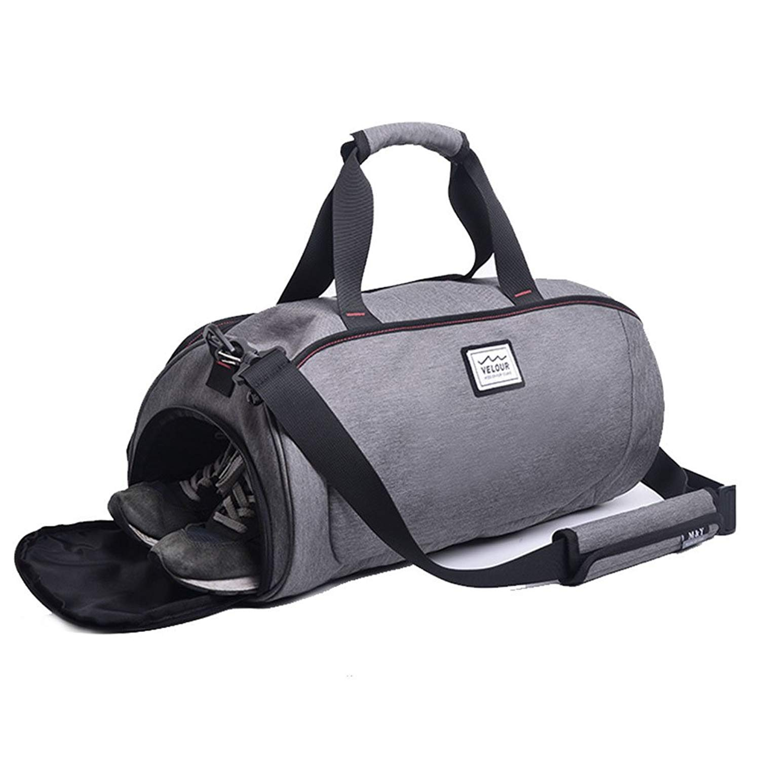 Tenacitee Futbol Jersey Grey Brushed Canvas Messenger Bag
