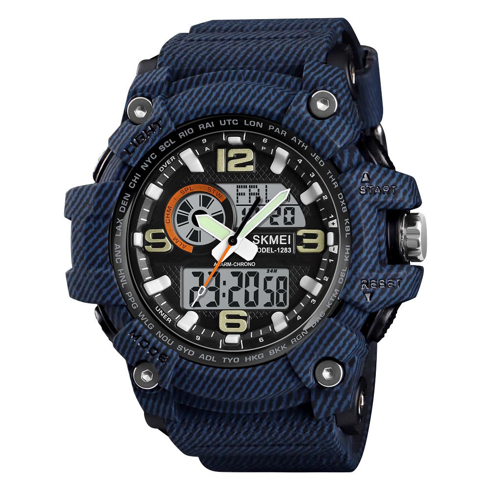 Skmei 1283 Chinese Supplier Japan movement Analog Digital Watches Men Wrist Luxury Brand, 6 colors