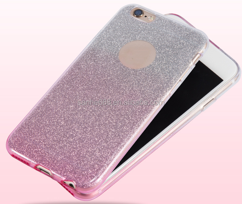 fashion water proof cellphone case china factory wholesale bulk glitter cover supplier for iphone 5 6 7 with color changing
