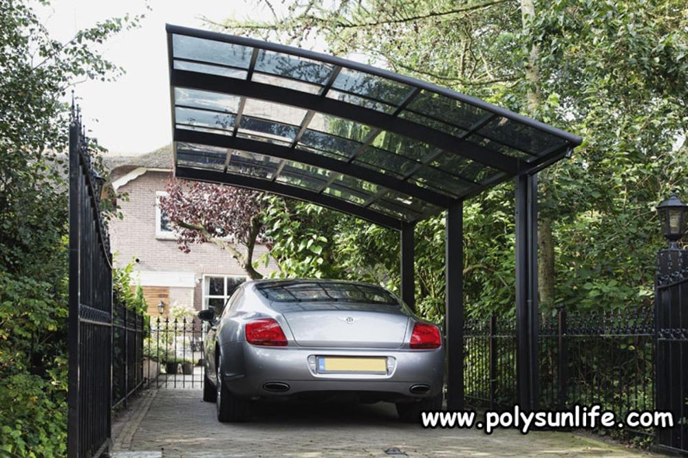 Sun Life Single Aluminum Carport With Polycarbonate Roof