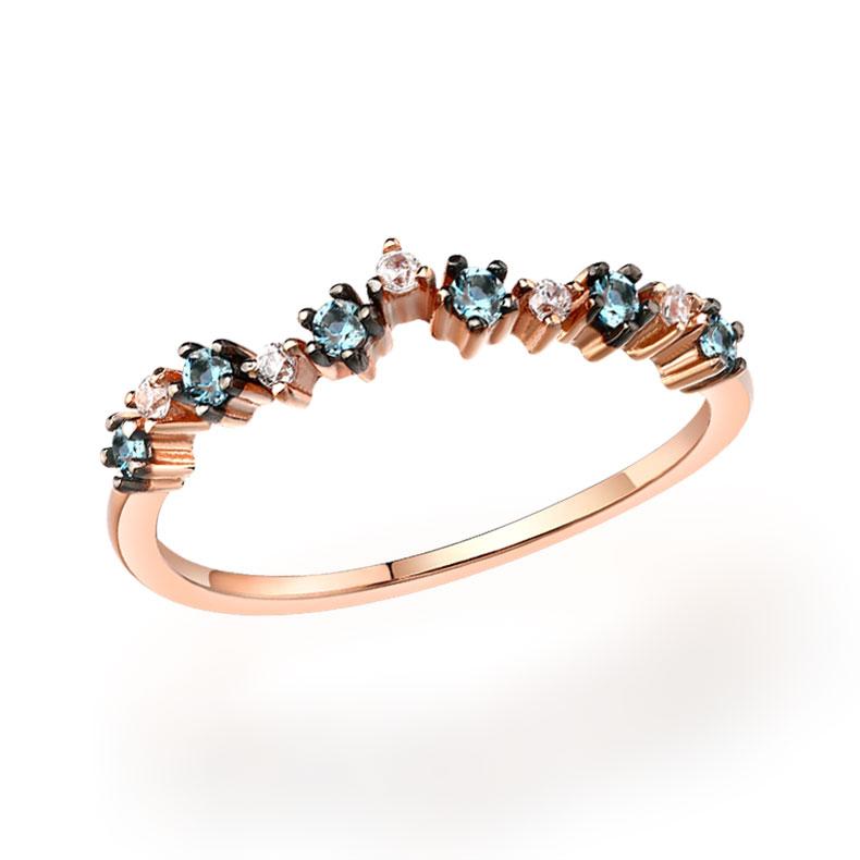 Bracelet 18K Gold Filled Heart fall in love Swans Topaz Bracelet Zircon Chaîne Pierres Précieuses