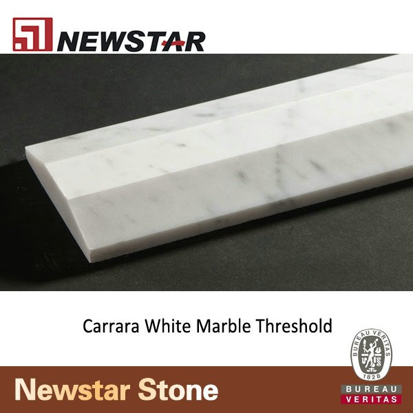 Carrara Threshold: Newstar Carrara White Marble Door Threshold