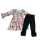 cute baby kids clothing factory wholesale Christmas classic style boutique baby set outfit