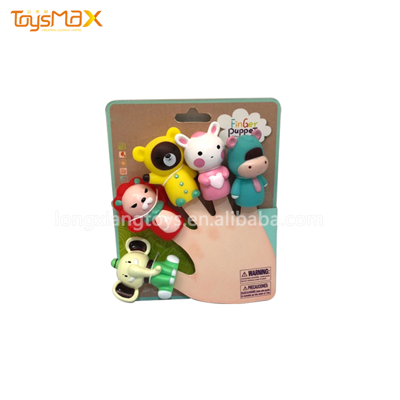 Supper Cute Cartoon Finger  Puppets Baby Animal Finger Set  Educational Toys For Children
