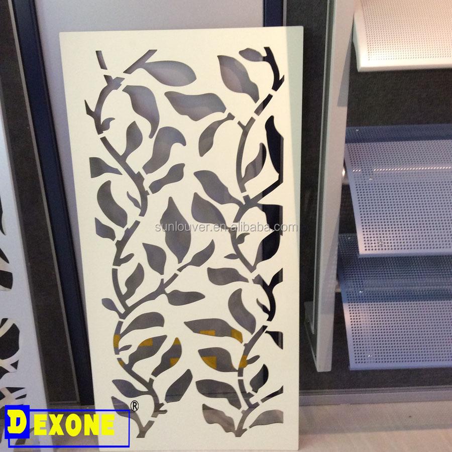 Metalen aluminium geperforeerde panel voor gevel muur panel screen ...