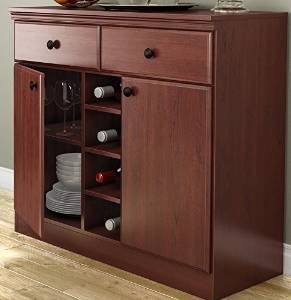 Get Quotations · Dining Room Buffet Sideboard Console Table In Cherry Wood  Finish