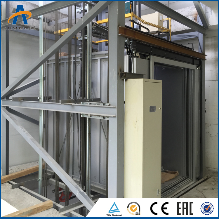 Electric hydraulic lift 1000kg 2 tons freight elevator