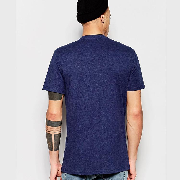 Custom printing men cheap cotton plain extended t shirt for Custom shirt printing cheap