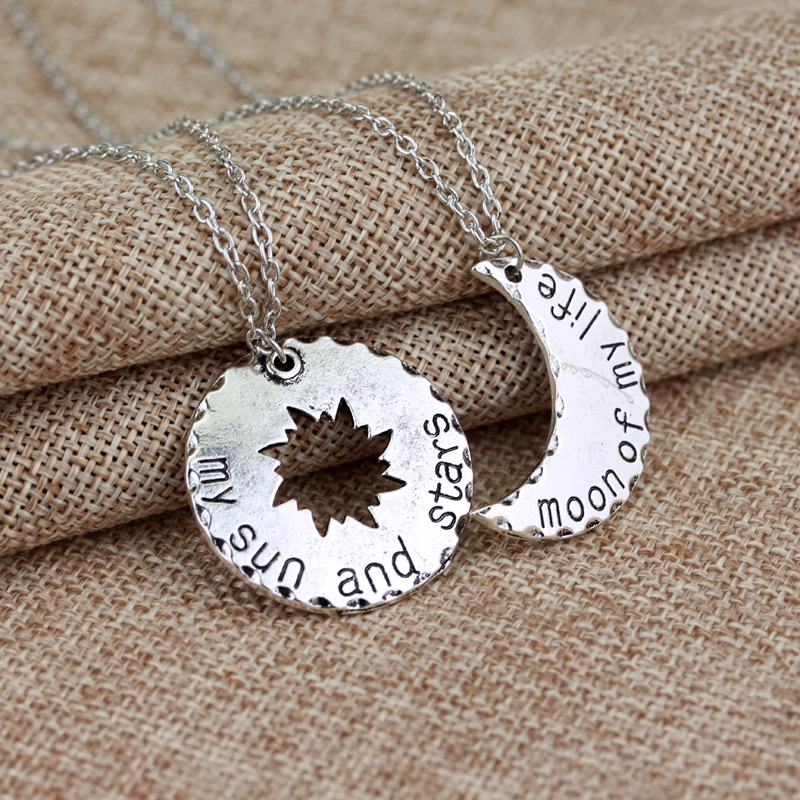 Classical Moive Game of Thrones Necklace Vintage Silver Moon of My Life My Sun and Stars Necklace