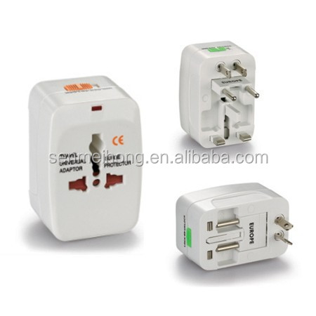 Hot Selling Universal travel Adapter with USA/Australia/Europe/UK Worldwide Plugs