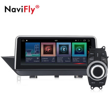 NaviFly 6 Core PX6 Android 9.0 car DVD player สำหรับ BMW X1 E84 2009-2015 orginalscreen/Original CIC ระบบ 4 + 32G GPS IPS