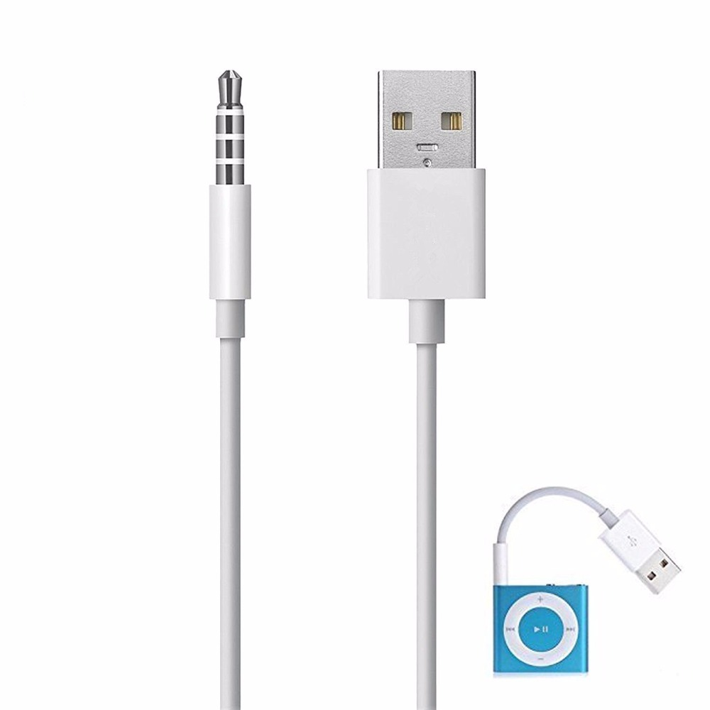 Elink 3.5mm Jack To USB Power Charger Sync / Transfer Data Cable For iPod Shuffle 3rd 4th 5th Gen