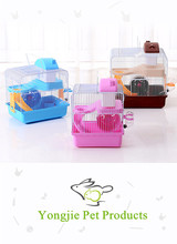 New Design Foldable Castle Hamster Cage with Pot and Wheel