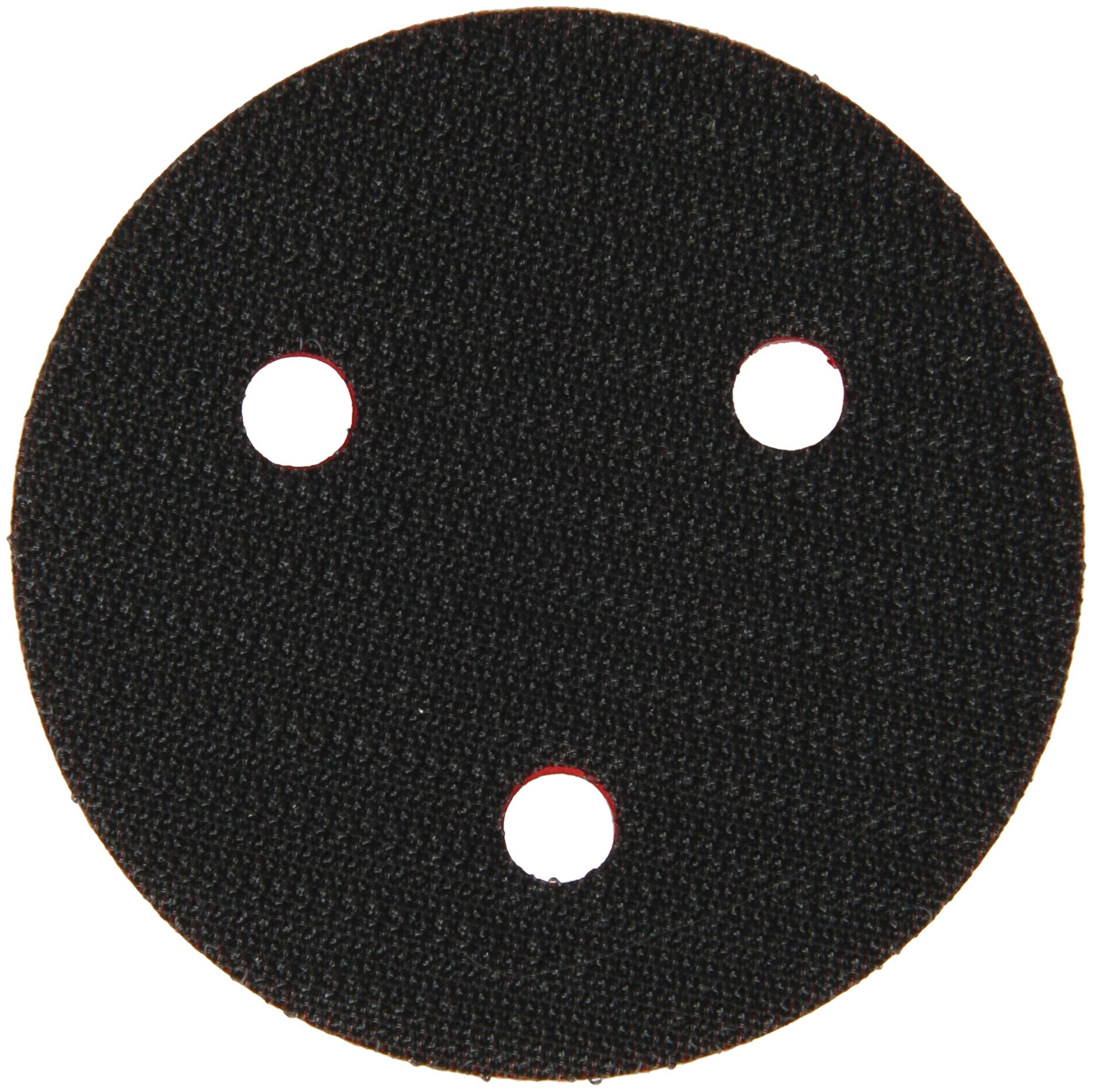 """3M(TM) Hookit(TM) Clean Sanding Low Profile Disc Pad 20350, Hook and Loop Attachment, 3"""" Diameter x 1/2"""" Thick, 1/4""""-20 External Thread, 3 Holes, Red (Pack of 1)"""