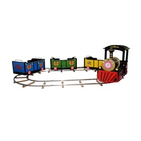 Dinibao new indoor amusement products kids electric train toy game machine ride on track