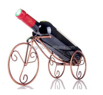 Minghou Wine Rack Single Bottle Display New Design Bicycle Holder Metal Shelf