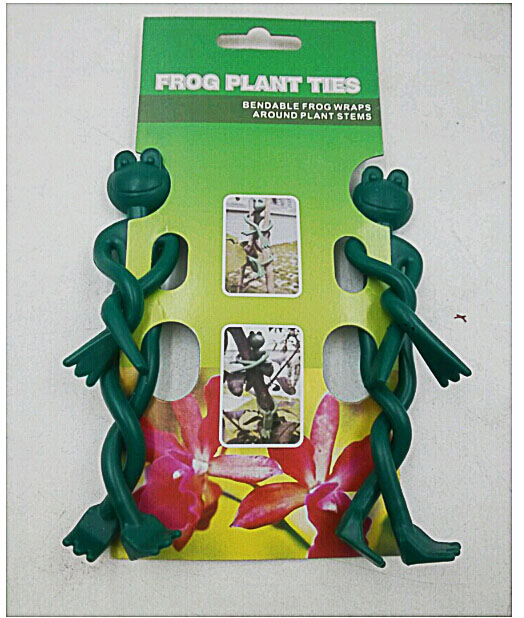 2pcs soft bendable frog shape garden plant ties