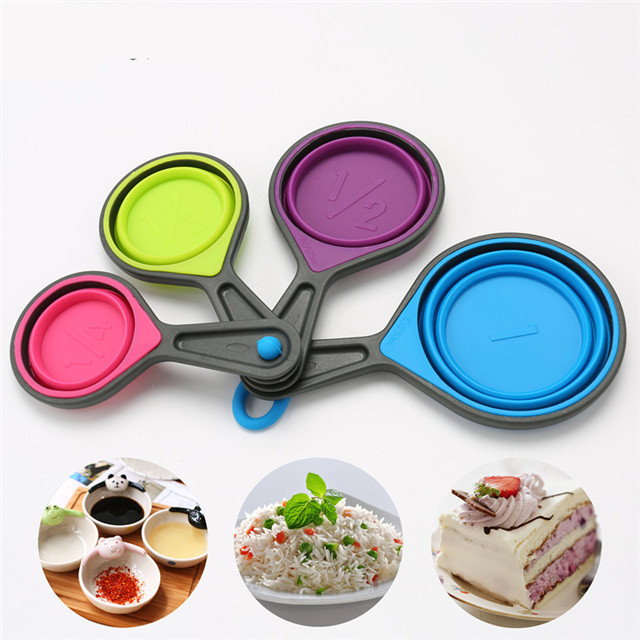Hot selling high quality cheap kitchen silicone The Measuring Spoons