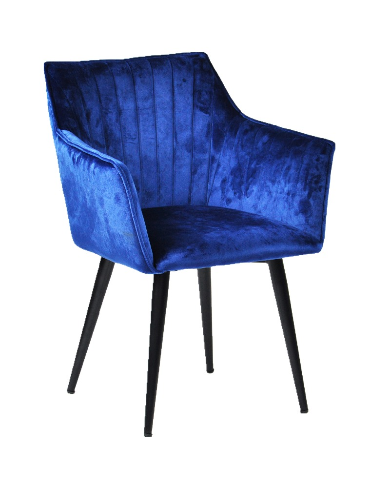AH-8380-75 Fabric Metal Leg Leisure Chair Velvet