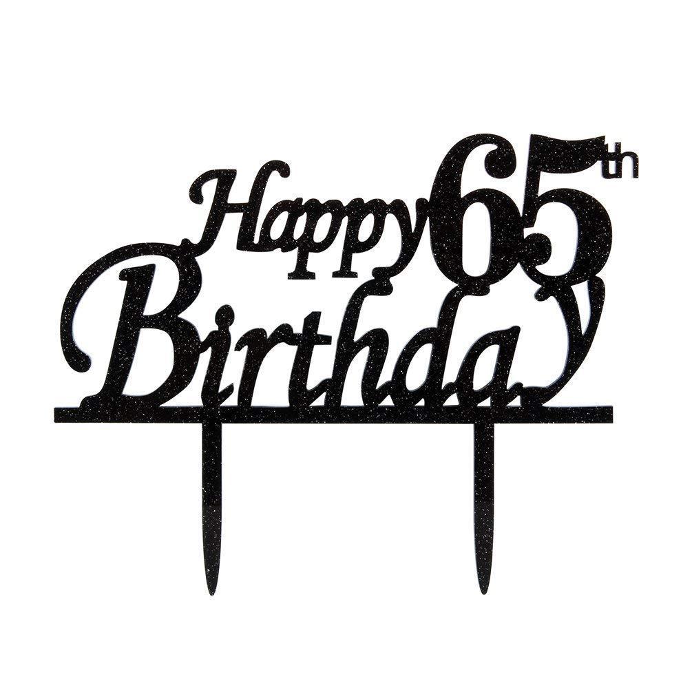 KISKISTONITE Happy 65th Birthday Cake Topper