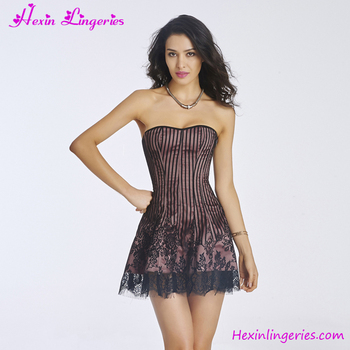Factory Fat Women Cheap See Through Corset Prom Dress - Buy See ...