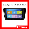 Foxway good price Skoda Octavia touch screen car dvd player Android MTK chip car stereo gps navigaton dvd player