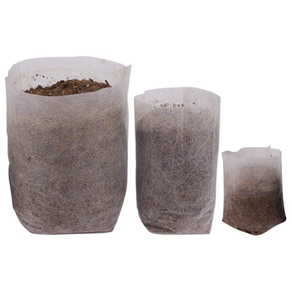 "Benail 400Pcs Degradable Non-woven Plant Nursery Bags Plant Seeding Bags (100 Pcs 7.09"" x 7.87""; 200 Pcs 4.72"" x 5.90""; 100 Pcs 5.51"" x 7.09"")"