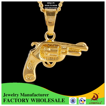 Best price fashion 18k gold pendant design women gun shape hip hop best price fashion 18k gold pendant design women gun shape hip hop gold plated pendant aloadofball Image collections