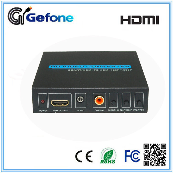 HDMI Converter Scart and HDMI Input to HDMI Output with Digital Coaxial/Analog 3.5mm Audio