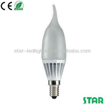 4.8W E14 led lighting bulb /flame shaped candle light,bedside light
