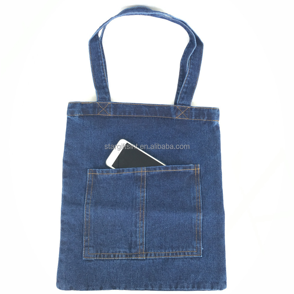 2017 New Style Cotton Denim Jeans Shoulder Shopper Tote Bag