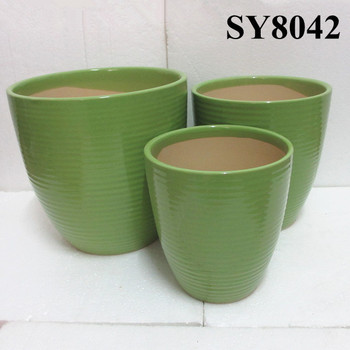 Green Glazed Large Ceramic Pot Whole