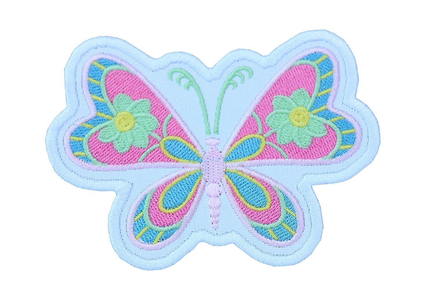 5678b0ef41c Get Quotations · Colorful Butterfly Embroidered Patch - Iron on patch