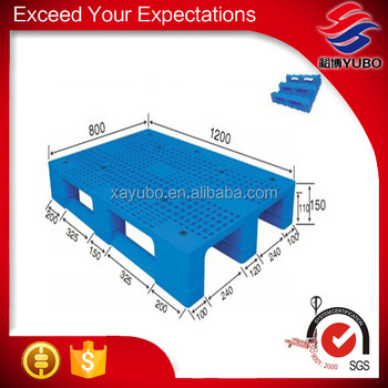 Logistic plastic pallet, single faced shipping heavy duty steel reinforced racking plastic pallet