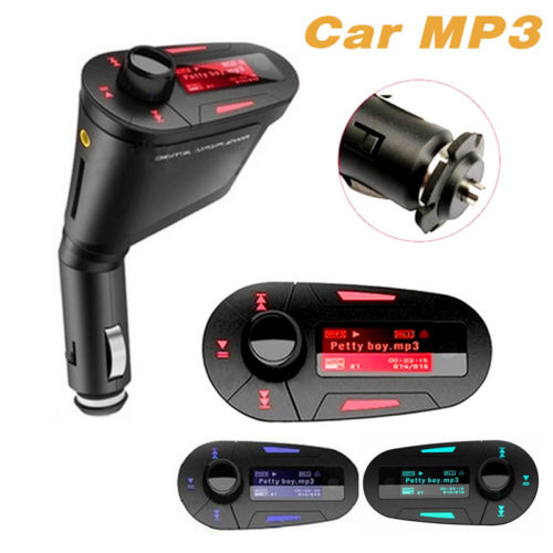 Новый красный Bluetooth 3.0 автомобильный комплект телефон FM передатчик для SD MMC пульт управления громкой связи оптовая продажа