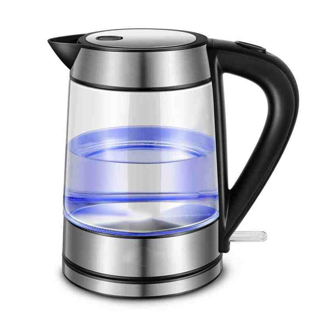 Household Electric Kettle Glass Kettle Automatic Power Off Insulation Kettle Electric Kettle Teapot Automatic Shutdown Water Drying Protection (1.7 / 220V) 27.5 20.5 26.5cm