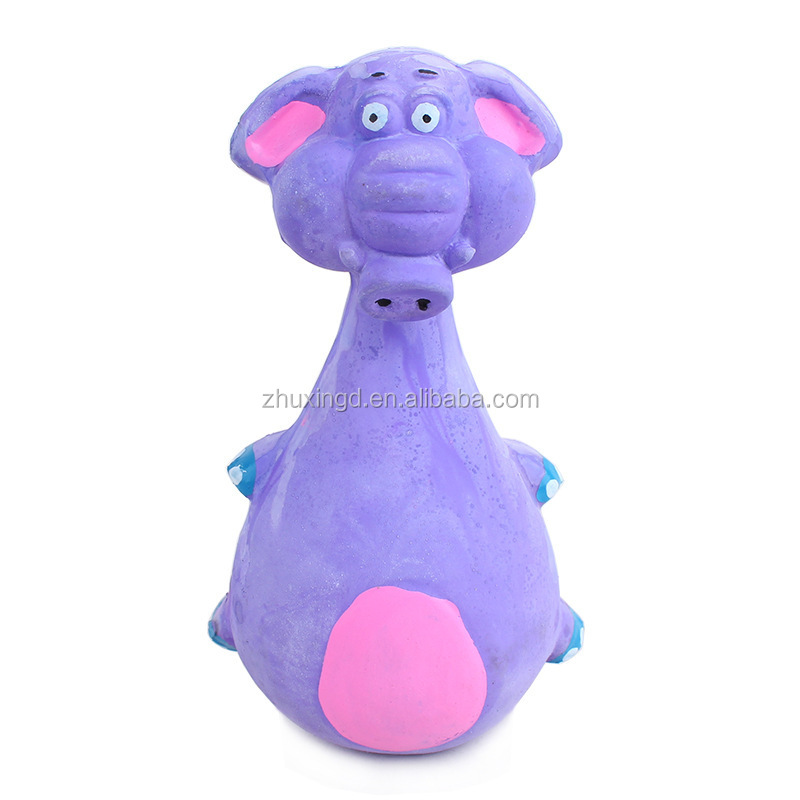 Rubber elephant toy, cute toy dog, soft rubber dog toy